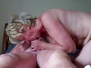 Granny 71 suck and ride husband
