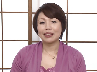 50 yr Old Japanese Granny with protruding nipples
